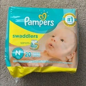 $5 ADD ON Pampers newborn swaddlers 20 count